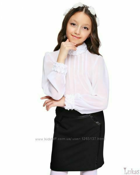 Блуза нарядная шифоновая для девочки ТМ Lukas 146 см