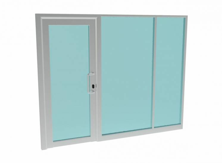 Дверь алюминиевая фасад кабинета офисная перегородка входная группа