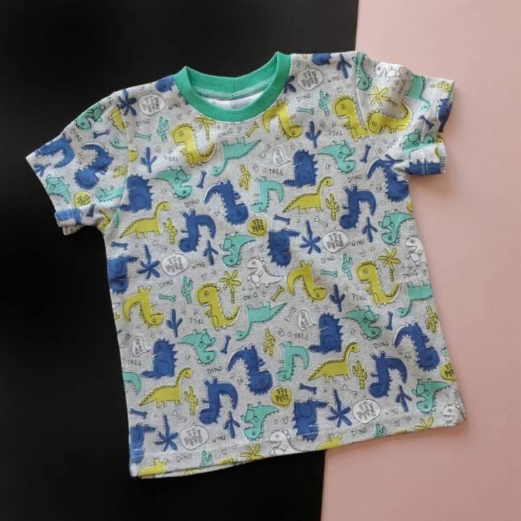 Футболка с динозаврами, футболочка для мальчика
