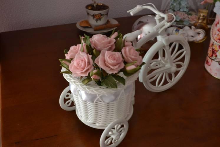 Декоративный велосипед. цветочный велосипед