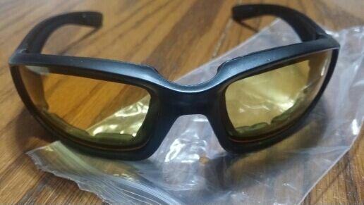 Очки защитные, желтые стекла, пыльники, новые