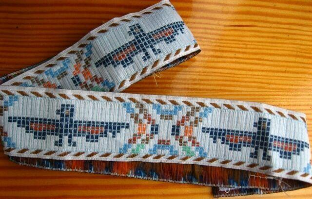 Лента в этническом индейском стиле. на голову, декор, на липучке. торг