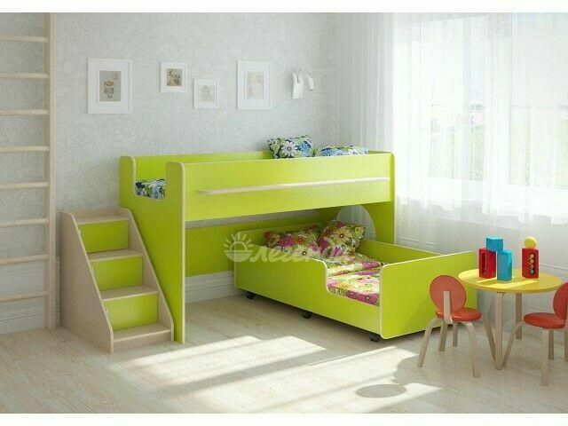Двухъярусная кровать. детская комната. двоярусне ліжко. кровать чердак