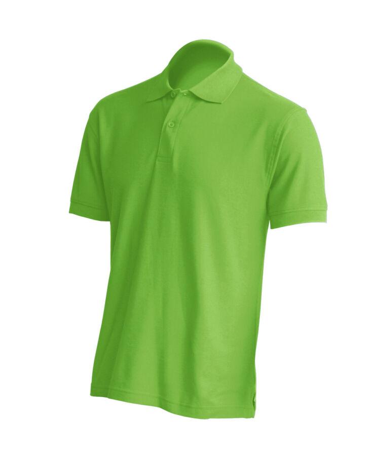 Мужская футболка поло, цвет салатовый