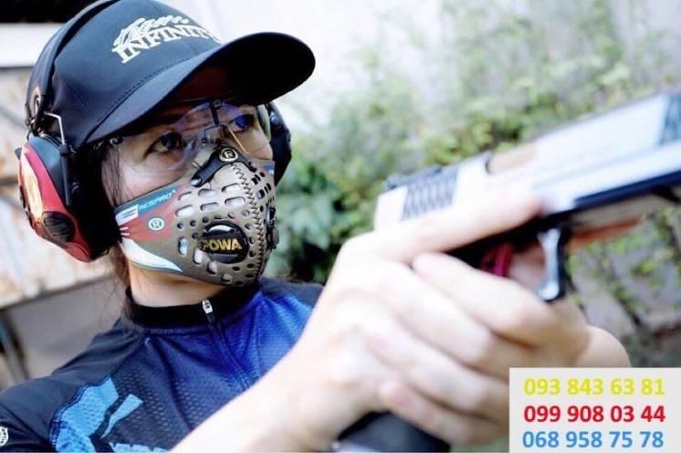 Защитная маска Respro для тира. защита от свинца.