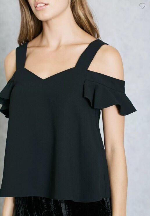 Топ с открытыми плечами Black Bardot черного цвета от Topshop