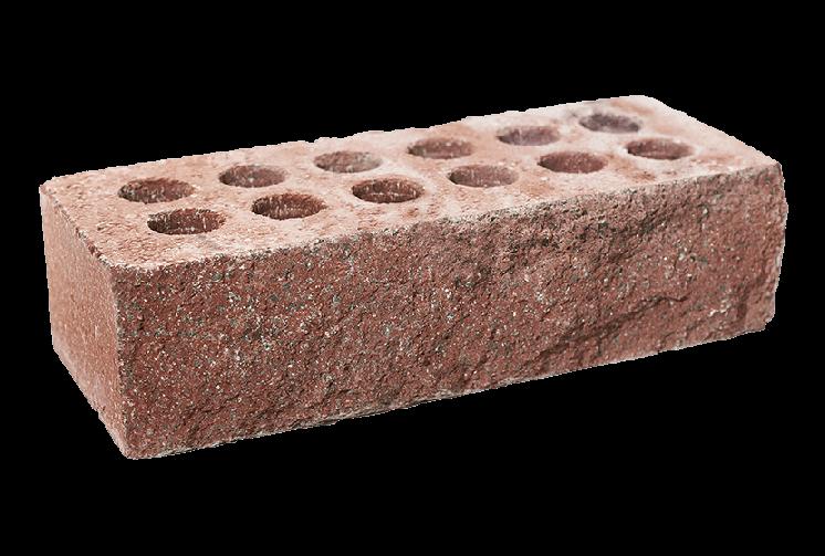 Кирпич облицовочный литос стандартный скала (рваный) бордо