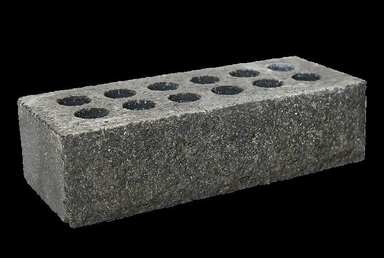 Кирпич облицовочный литос стандартный скала (рваный) серый
