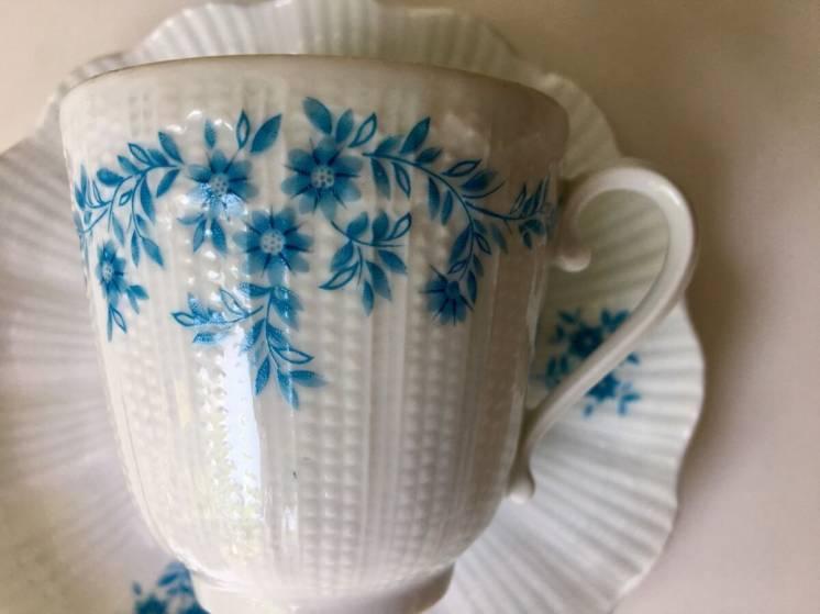 Коллекционная чашка France Limoges костяной фарфор кофейная пара.