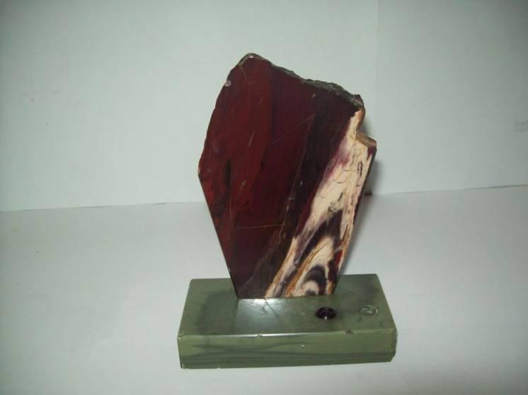 Сувенир настольный подставка для ручки минерал натуральный камень ссср