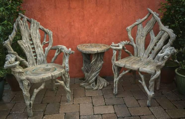 Создание необычной садовой мебели и маф