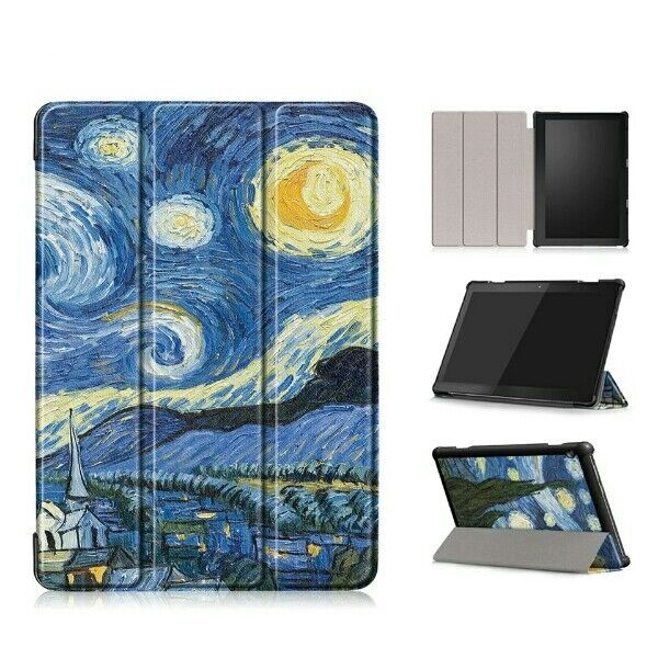 Чехол-футляр на магните для Samsung Galaxy Tab 10.1 дюйма ван гог звез