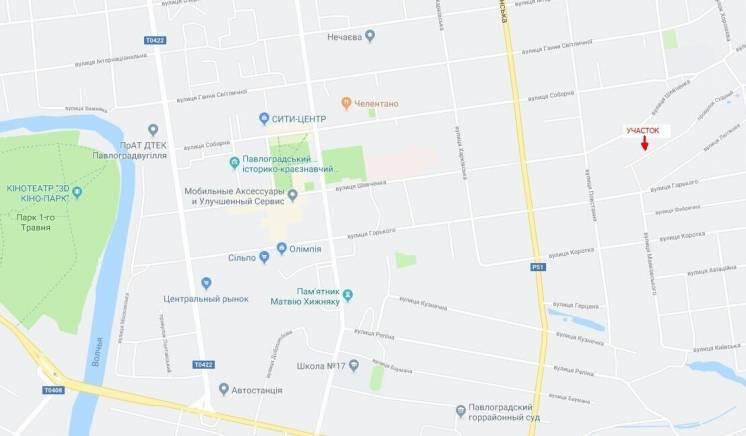Земельный участок в центре Павлограда по себестоимости