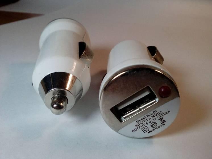 Зарядка Usb адаптер в прикуриватель 5в - 1а