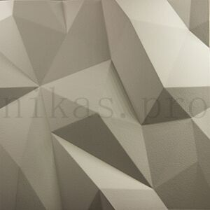 Гипсовая 3д панель кристалы
