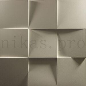 Гипсовая 3д панель квадраты