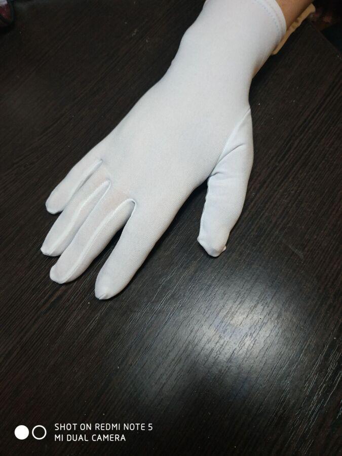 """Перчатки для демонстрации ювелирных изделий """"Бельгия"""" белые,"""