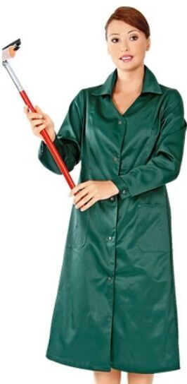Халат рабочий хозяюшка зеленый