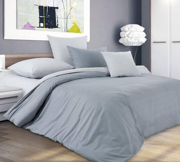 Горный ветер - стильное серое постельное белье (перкаль, 100% хлопок)