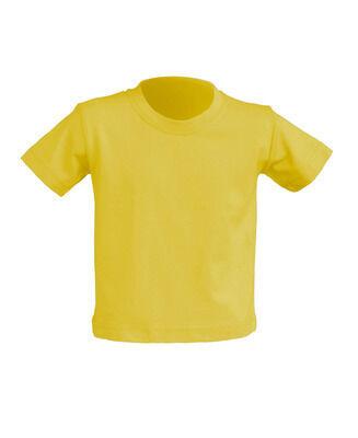 Детская футболка, желтая, 0-2 года
