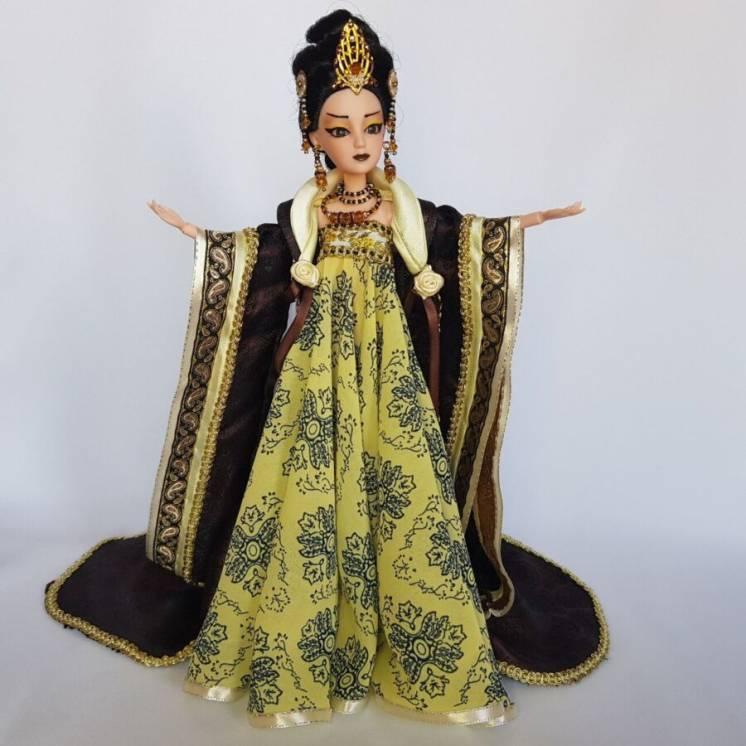 Коллекционная кукла императрица китая с ультра-длинными волосами