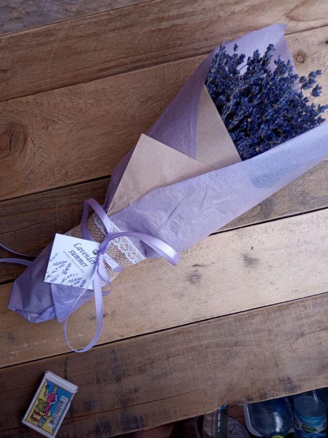 Лаванда сухая букет сухоцвет подарок