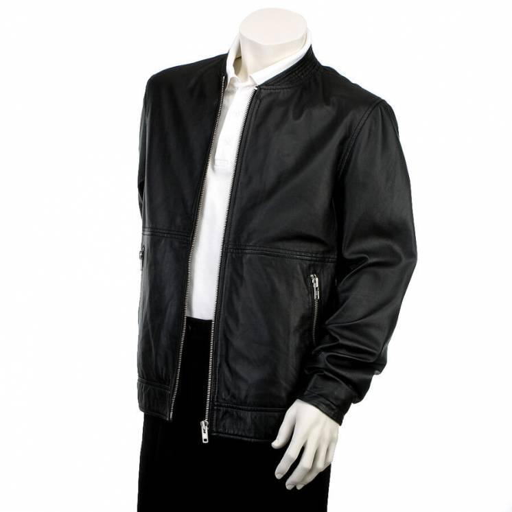 Minimum 100% кожа мужская кожаная куртка бомбер пилот демисезон