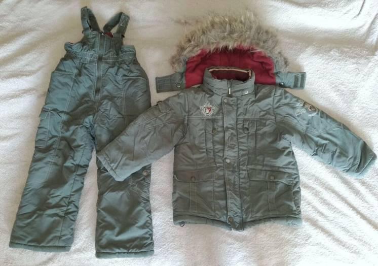 Зимний комбинезон Kiko, р. 110-116. костюм для мальчика, куртка штаны
