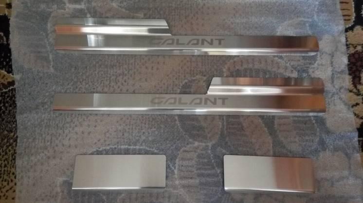 Накладки на пороги Mitsubishi Galant Ix 2006- 4шт.