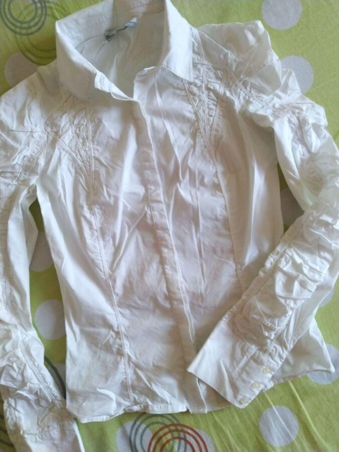 Блузка, рубашка белая. классика. спорт