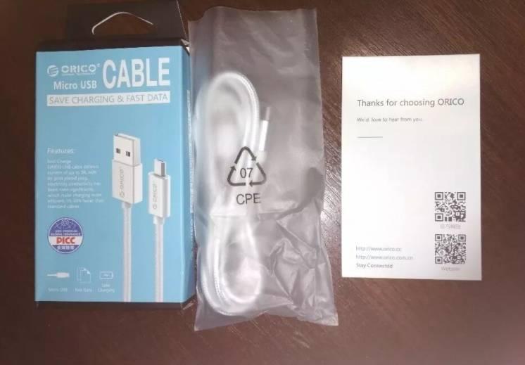 Orico Edc-10 нейлоновый кабель Micro Usb для зарядки и передачи данных