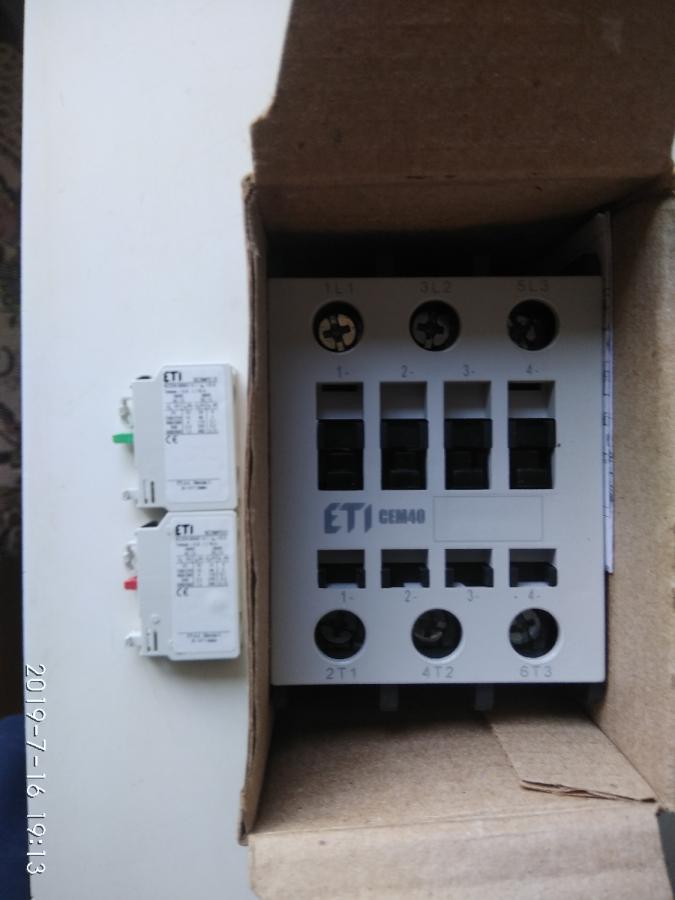Контакторы CEM - 40 -230V , CEM 18-10-230V , CEM 12-10-230V