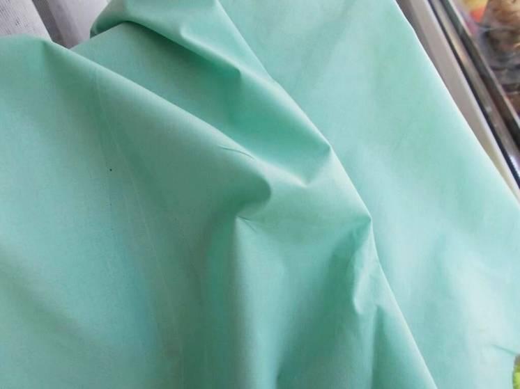 Ткань хлопок батист нежно-бирюзового цвета 9 кусков. Для рукоделия