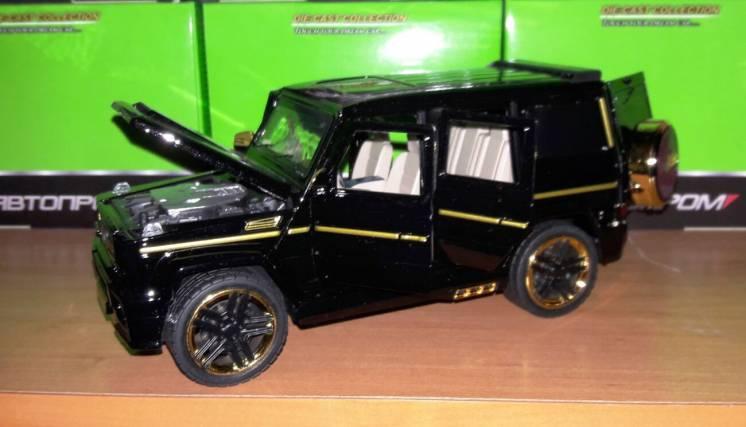 Машинка металлическая Автопром 7688, 1:24 Mercedes-benz G65, свет, зву