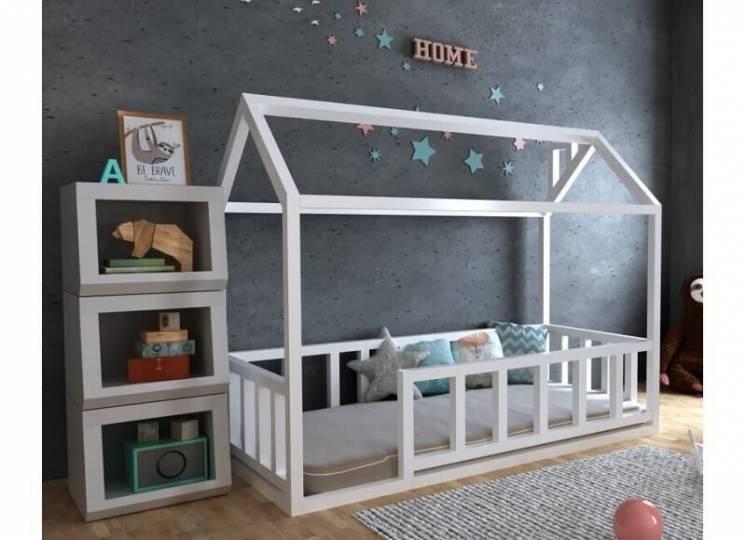Детская деревянная кровать домик тедди плюс