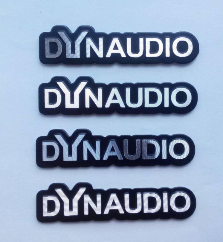 Шильдики Dynaudio, на колонки. для Volkswagen, Audi, Skoda, и другие