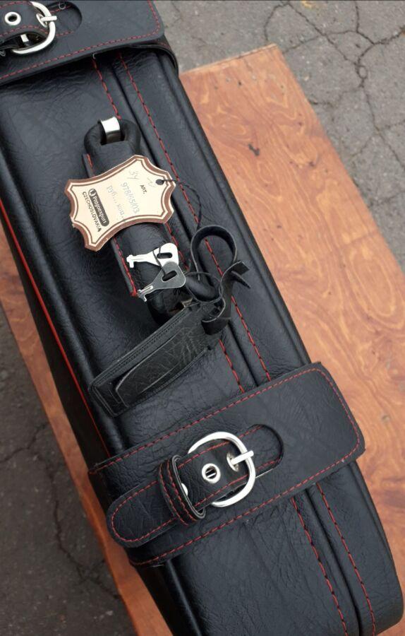 Кожаный чемодан ссср новый-1970г. куплен в чехословакии!