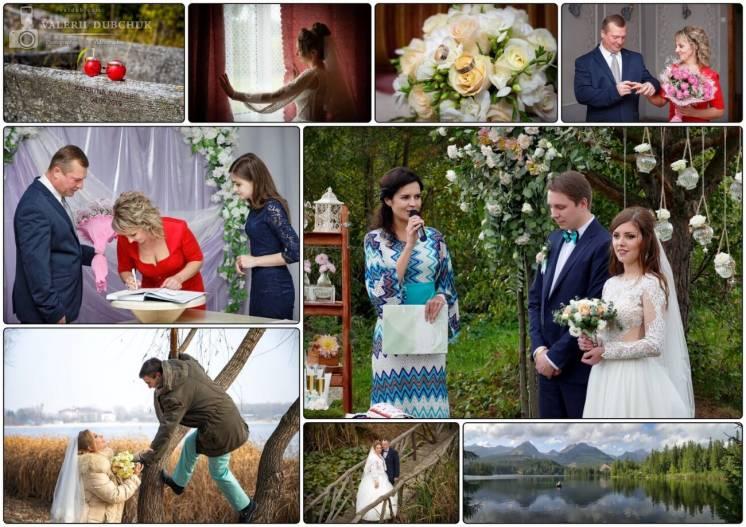 Весільний фотограф та відеограф 2в1 до 30хв = 500грн, від 1год = 700гр