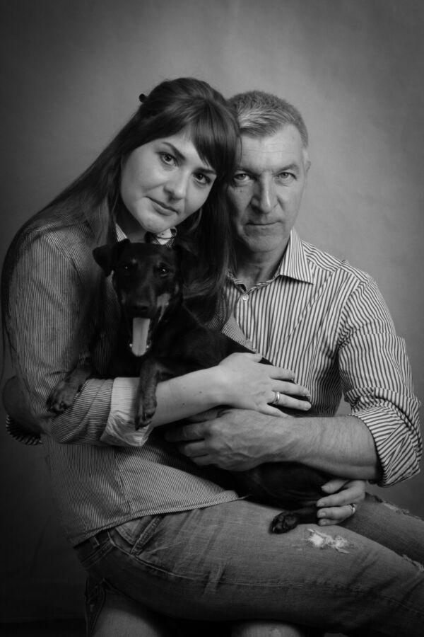 Семейная фотосессия с домашними животными.