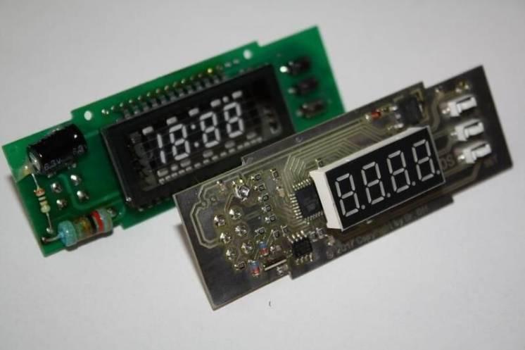 Часы, вольтметр, два термометра - Chevrolet Lacetti, Lanos, Sens