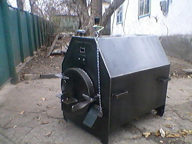 Горизонтальный твердотопливный котел длительного горения 25кв