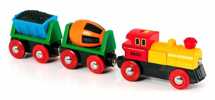 Деревянная железная дорога Brio брио 33319 грузовой поезд