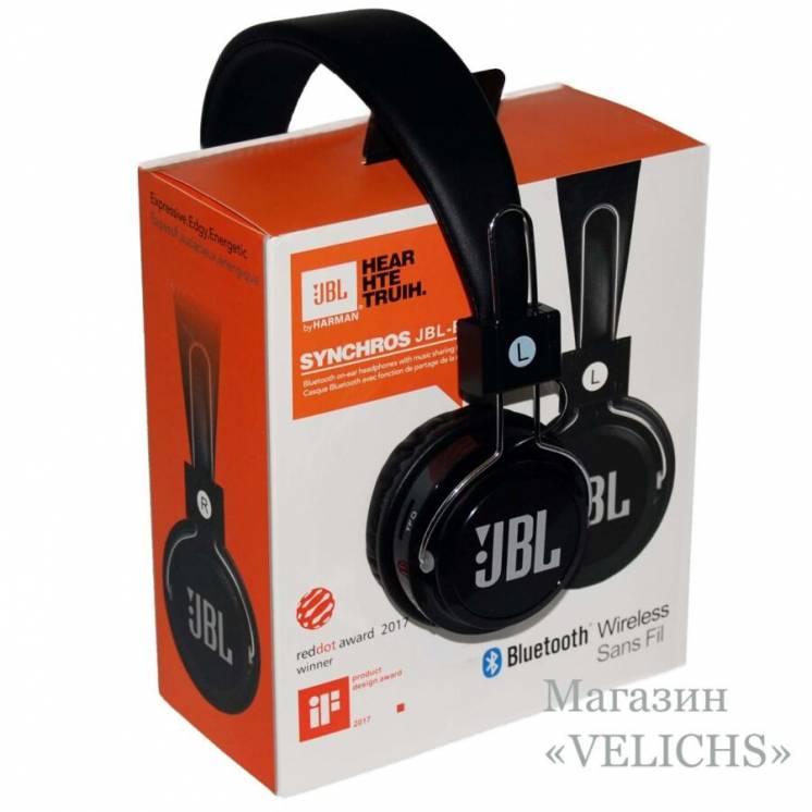 Беспроводные Bluetooth наушники Jbl Synchros B-09 Mp3 Fm чёрные