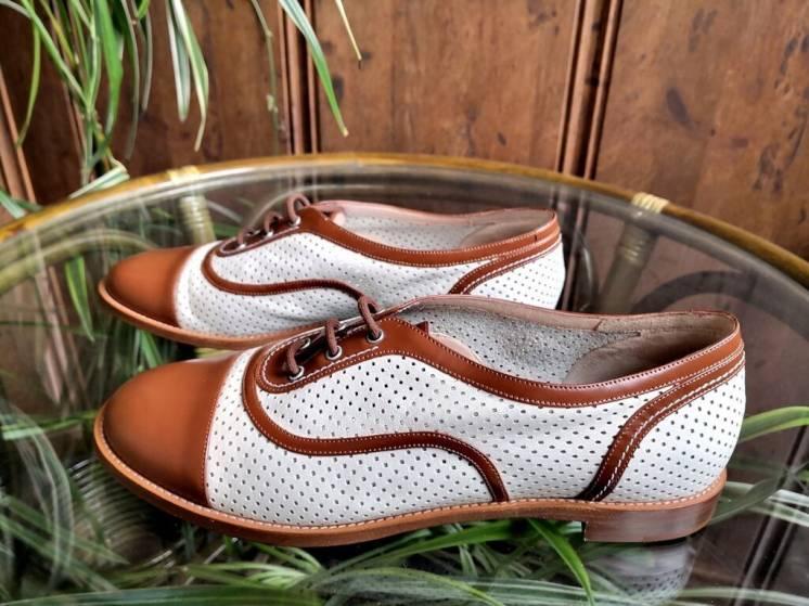 Женские туфли Bally Балли, оригинал, низкий ход, кожа, перфорированные
