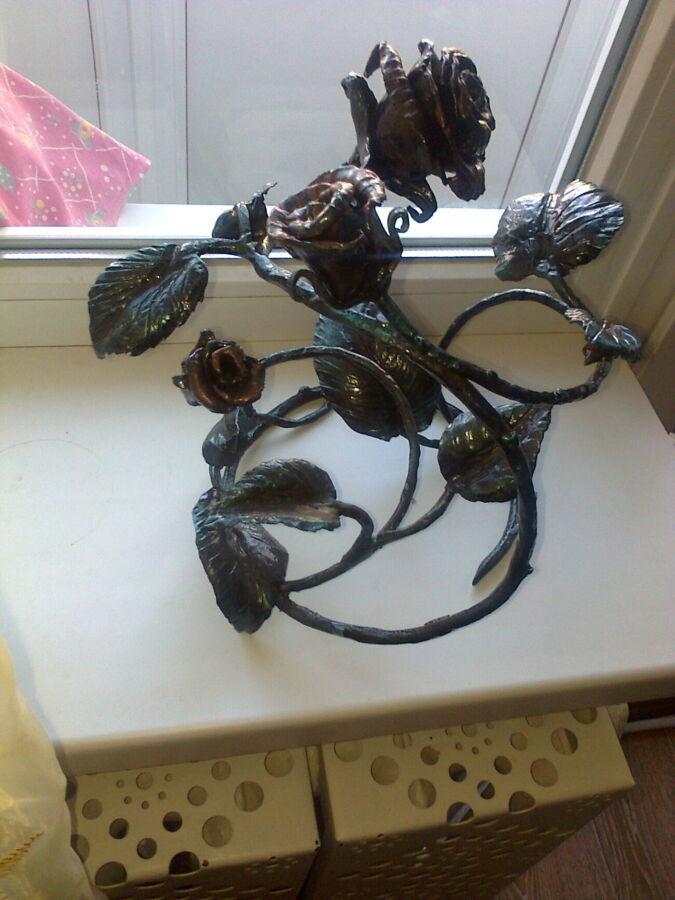 Кованый букет роз для кмина