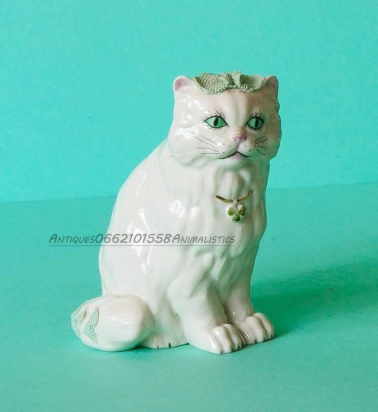 Фарфоровая статуэтка кошка англия фарфор