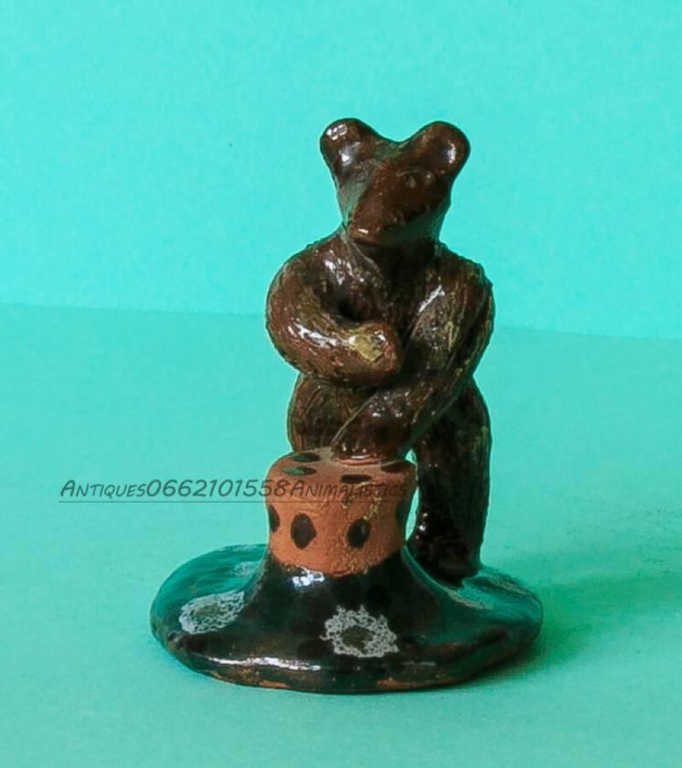 Антиквариат статуэтка медведь керамика примитивное искусство ссср