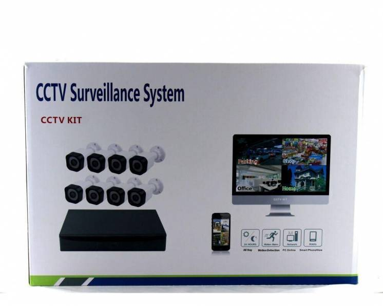 Комплект видеонаблюдения ukc D001-8 Kit (8 камер)