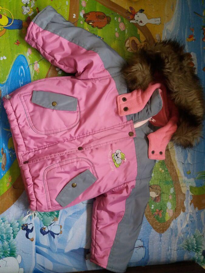 Детская зимняя куртка для девоски на 2-3 года