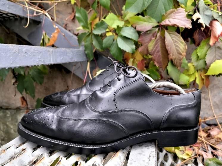 Туфли Bally Scribe ( Балли ), оригинал, Hand Made, кожаные, черные.